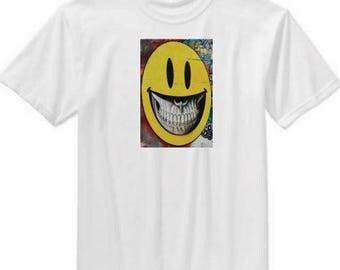 Street Garfitti Art t shirts - smiling, thinking, tiger, blue lady