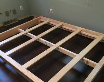 Custom rustic bed frame
