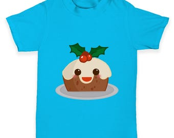 Cute Christmas Pudding Baby Toddler T-Shirt