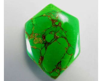 Green Copper Turquoise 28X20X5mm Fancy Shape Awesome Loose Gemstone Cabochon Handmade Gemstone For Jewellery Making 17Cts B-0615