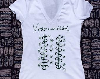 Vodounchild Deep V T-Shirt Women's