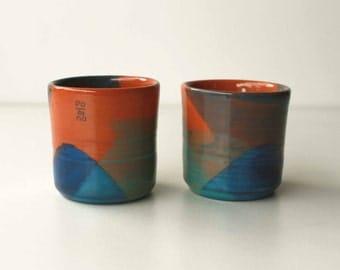 Espresso Cup / / red earthenware