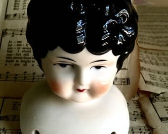 Vintage Porcelain/Bisque Doll Parts, Vintage Doll Head, Arms,and Legs, Collectible Doll Making Parts