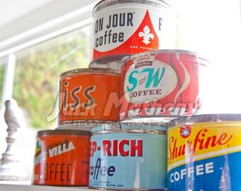 Vintage Coffee Cans Digital Download