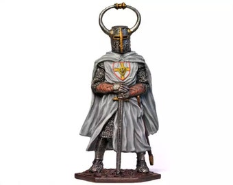 Tin Soldier - Teutonic Order Knight, Tin Knight, Metal Miniature, Collectible Soldier, Historical Miniature, Pewter Soldier, Medieval Knight