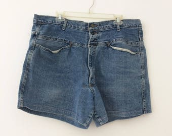 Vintage Denim High-waisted Jean Shorts by Girbaud // size 38 XL XXL