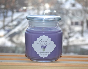 SALE Lavender 16oz Large Soy Candle