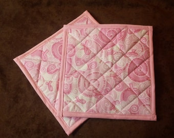 Breast Cancer Hot Pads // Pot Holders