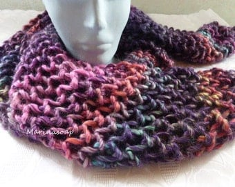 Winter warm cuddly scarf, scarf, scarf, knitted scarf, light scarf, purple, gift, girlfriend, daughter, mother, winter scarf