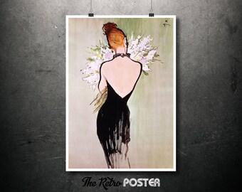 Miss Dior - René Gruau - Fashion, Fashion Illustration, Fashion Print, Fashion Poster, Vogue Print, Gift Woman, Perfume Print