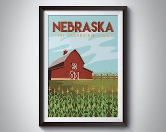 Nebraska | Travel Poster | Instant Download