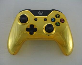 Microsoft Xbox One Wireless Controller Custom Full Chrome Gold