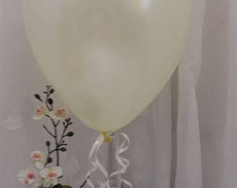 "50 x 12"" IVORY PEARLISED Latex Balloons - Weddings, Birthday Party, Barbeque"