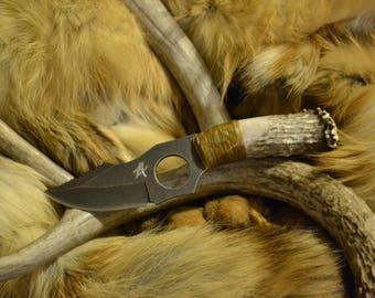 Handcrafted Mule Deer Antler Handle Knife