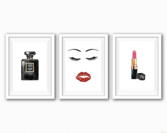 Chanel Themed - Bedroom/Dressing Room - Trio Prints - Pink
