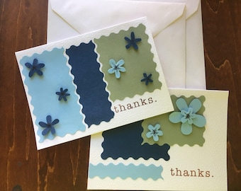 Two Coordinated Thank You Card Set