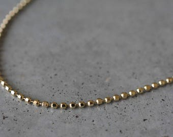 14K Yellow Gold Chain Necklace, 14k Solid Gold Chain, thin gold necklace, unique necklaces for women, minimalist necklace, 14k gold Necklace