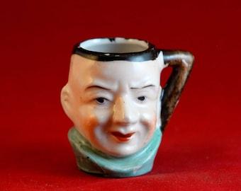 Miniature Mug,Miniature Mugs,Mini Ceramic Mugs,Collectible Mugs,Miniature Mugs japan,Character Mugs,Gentlemen Mini Mugs,Mid Century Mugs