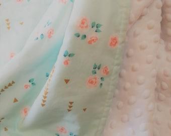 Mermaid Baby Blanket - Unicorn Baby Blanket - Minky Baby Blanket - DESIGN YOUR OWN - Sarah Jane Magic - Baby Girl Blanket - Stroller Blanket