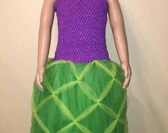 Princess Mermaid Tutu Dress. Girls Size 10 Ready To Ship!