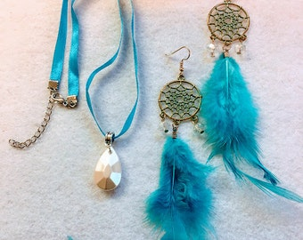 1 Set Princess Pocahontas Necklace And Earrings