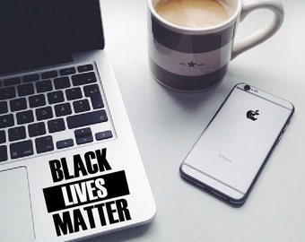 Black lives matter sticker, macbook decal, laptop sticker, car decal, touchpad sticker, window sticker, Black lives matter decal