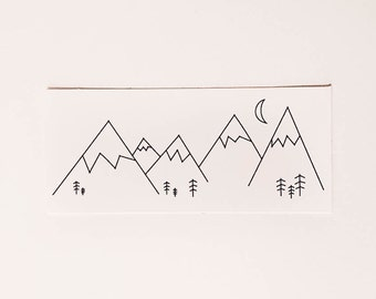 Minimal Mountains Sticker