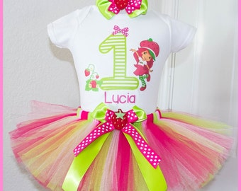 Super Cute Strawberry Shortcake Birthday Tutu outfit