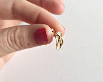 Shoe Earrings Gold, Flip-Flop Earrings Gold