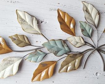 Leaf Wall Art, Gold Wall Art, Gold Home Decor, Leaf Wall Decor,