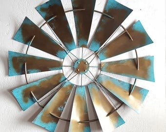 Wall Decor Metal windmill wall decor | etsy