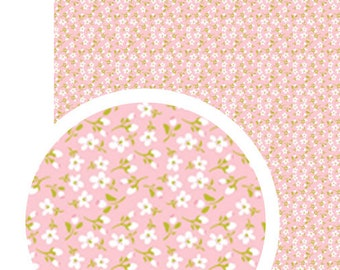 Adhesive fabric flowers A4 - fabric Vintage Style - fabric sticker