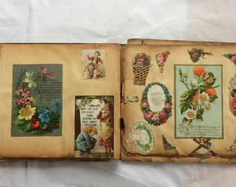 Antique Scrapbook 1840s Early Greeting Cards Valentines 120+ Excellent Museum Quality