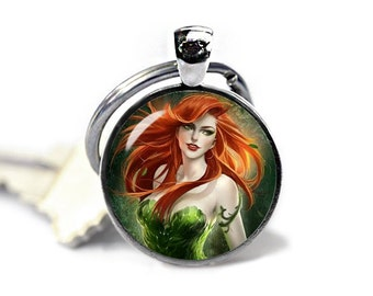 Posion Ivy Key Ring Posion Ivy  Keyfob Gotham City Poison Ivy Keychain Fandom Jewelry