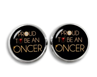 Once upon a Time Stud Earrings Proud to be an Oncer Earrings Fandom Jewelry Cosplay Fangirl Fanboy