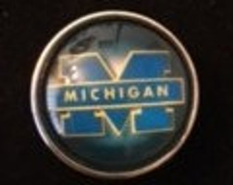 Michigan State 20mm Interchangeable Snaps that fit 18mm and 20mm Snap Jewelry