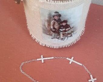 Bracelet stones silver commitment birthday Crucezitas... It