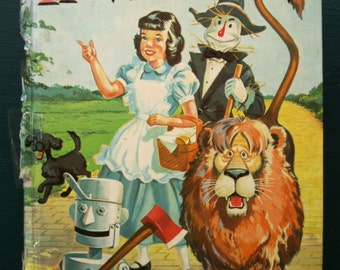 The Wonderful Wizard Of Oz Whitman Publications 1957 hardback by L. Frank Baum – Illustrated by Russell H. Schulz