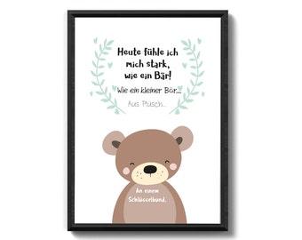 Bear key chain gift family
