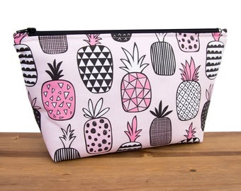 Pineapple Makeup Bag - Pineapple Gifts - Cosmetic Bag Set - Best Friend Gift - Large Makeup Bag - Toiletry Bag Set - Cosmetic Pouch #44