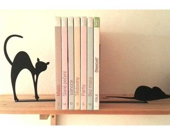 Mouse and Cat Bookends