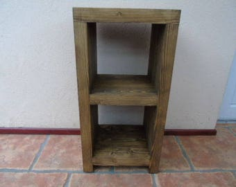 Handmade Rustic Wooden Bedside Table - Many Colours and Sizes