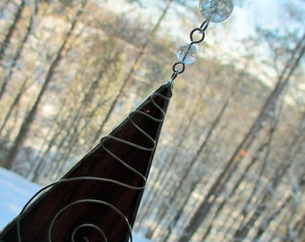 Stained Glass Suncatcher - Brown
