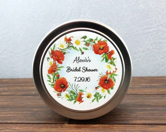 Bridal Shower Favors-Set Of 12-Candle Travel Tins 4 oz-Party Favors-Candle favors