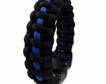 Thin Blue Line Paracord Bracelet, Cobra Weave Paracord,Thin Blue Line Bracelet, Paracord Bracelet, Woven Bracelet, law Enforcement Bracelet