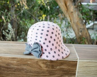 Girl Gatsby Wool Cloche Hat