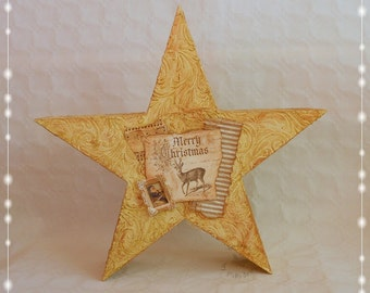 Star, Christmas, nostalgic, unique, Weinachtsdekoration, 39 cm,
