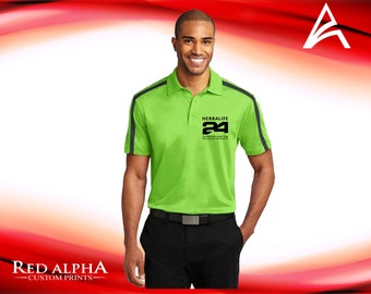 Herbalife 24 Fit Embroidered Polo Shirt