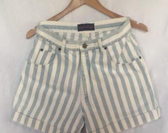 1980's Giorgio Sant'Angelo denim high-waisted shorts