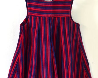 Vintage 1960s Toddler Baby Sundress GAY SPRITES Stripe